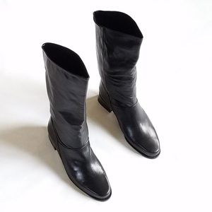 Makron Shelly leather mid calf boots.